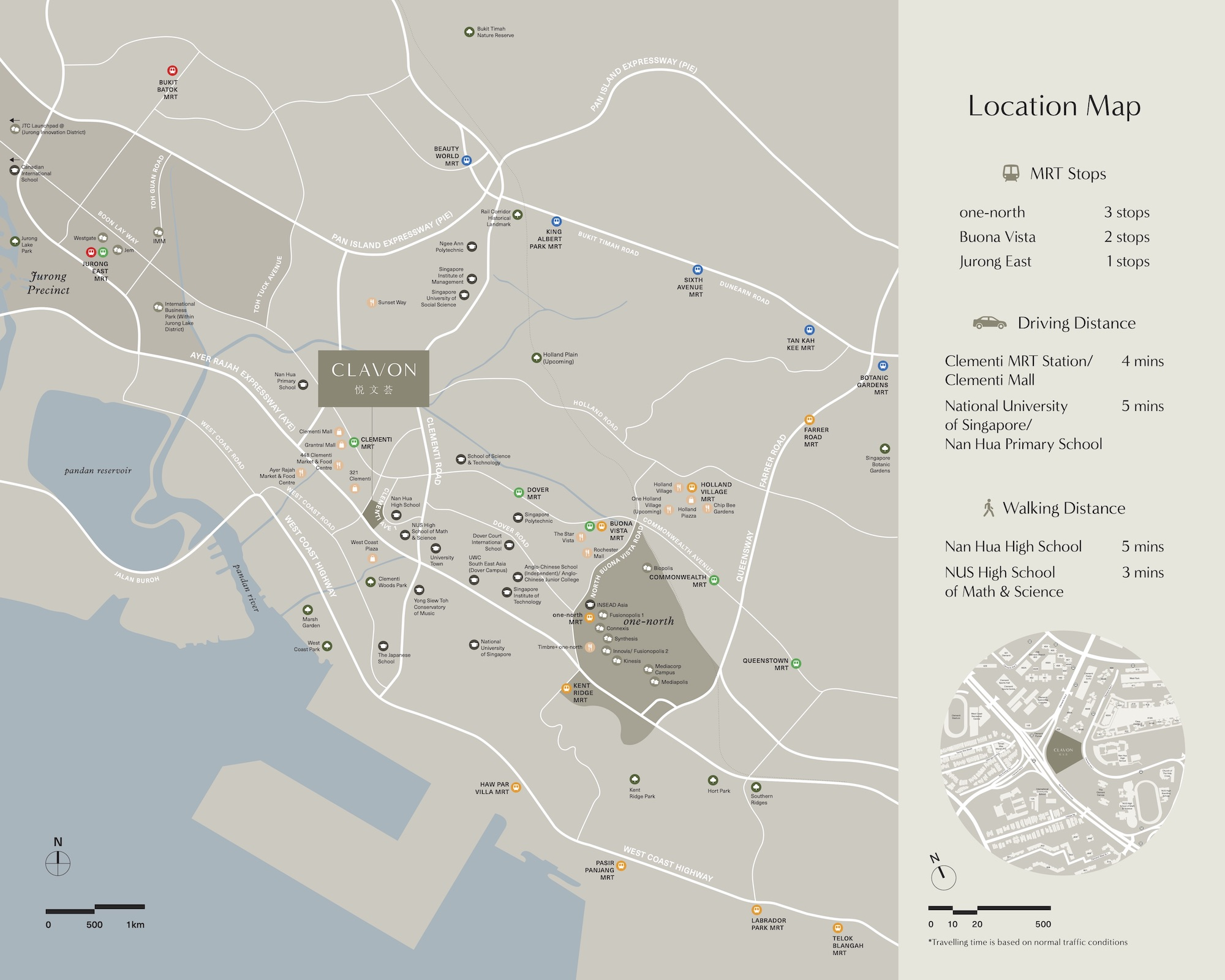 Clavon Location Map Singapore